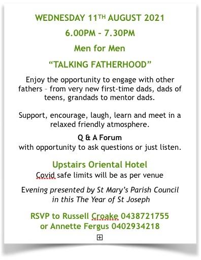 Talking Fatherhood - Men for Men